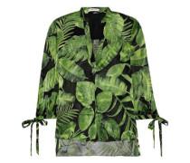Shelia Printed Fil Coupé Chiffon Blouse Green