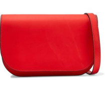 Leather Shoulder Bag Tomato Red Size --