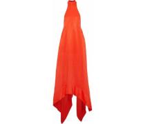 Asymmetric cady halterneck gown
