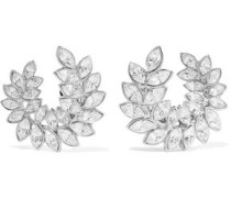 Silver-tone Crystal Clip Earrings Silver Size --