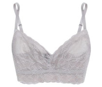 Ruched Lace Bralette Stone