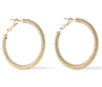 Gold-plated Hoop Earrings Gold Size --