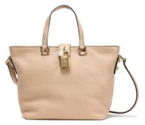Dolce Small Pebbled-leather Tote Beige Size --