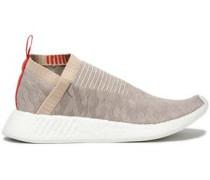 Nmd Cs2 Rib-trimmed Stretch-knit Sneakers Light Gray