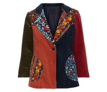 Patchwork Cotton-corduroy Jacket Multicolor Size 0