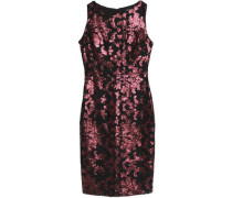Cutout stretch-crepe dress