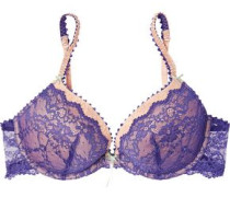 Two-tone lace push-up bra