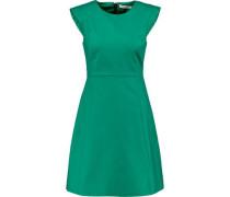 Halston flared cotton-blend mini dress
