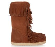 Boho Karlie shearling-lined fringed suede boots