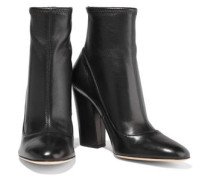Woman Virginia Stretch-leather Sock Boots Black