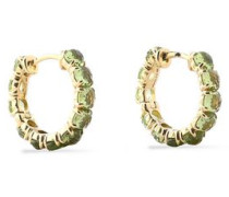 Gold-tone multi-stone earrings