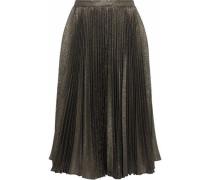 Plissé-lamé Skirt Gold