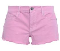 Le Cutoff Frayed Denim Shorts Baby Pink  5