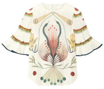 Woman Printed Silk Blouse Ivory