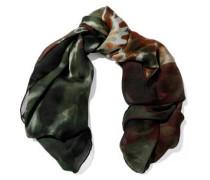 Woman Tie-dye Silk-chiffon Scarf Multicolor