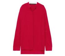 Washed-silk Top Crimson