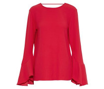 Haley fluted crepe top