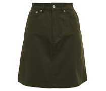 Woman Denim Mini Skirt Army Green