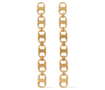 Gemini Link gold-tone earrings