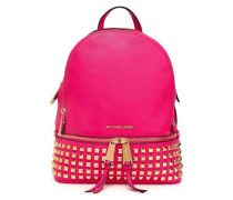 Studded Textured-leather Backpack Bright Pink Size --