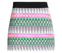 Jacquard-knit mini skirt
