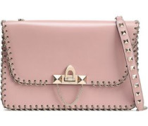 Demilune Small Chain-trimmed Leather Shoulder Bag Blush Size --