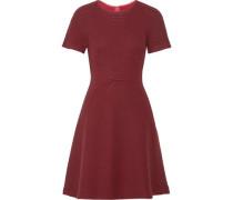Flared open-knit wool-blend dress