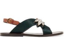 Essex crystal-embellished calf-hair sandals