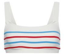 The Madison Striped Bikini Top Ivory