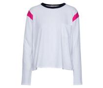 Percy Slub Cotton-jersey Top White