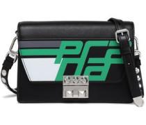 Racing Elektra Studded Printed Textured-leather Shoulder Bag Black Size --