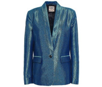 Metallic Jacquard Blazer Storm Blue