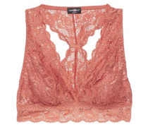 Woman Never Say Never Girlie Leavers Lace Bralette Antique Rose
