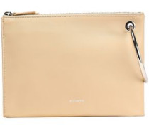 Leather Clutch Beige Size --