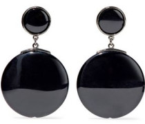 Gunmetal-tone resin earrings