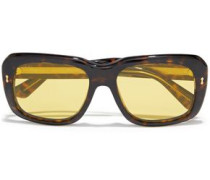 Woman Square-frame Tortoiseshell Acetate Sunglasses Yellow