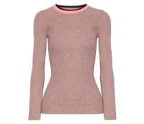 De Colores mélange ribbed-knit cotton sweater