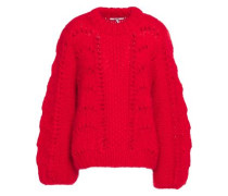 Julliard Open-knit Mohair And Wool-blend Sweater Red