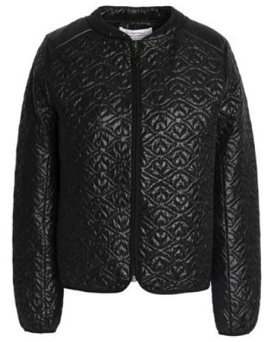 Qilted shell bomber jacket