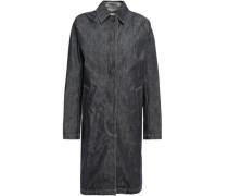 Woman Faded Denim Coat Dark Denim