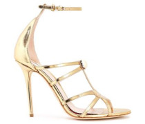 High Heel Sandals Gold