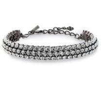Gunmetal-tone Crystal Choker Silver Size --