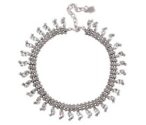 Burnished Silver-tone Crystal Necklace Silver Size --