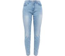 High-rise Slim-leg Jeans Light Denim  5