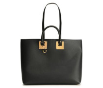 Cromwell East West Textured-leather Tote Black Size --