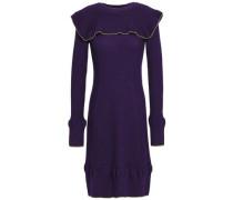 Ruffled wool dress