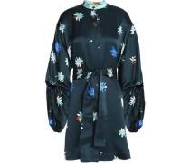 Silk-jacquard mini dress