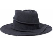 Distressed felt fedora