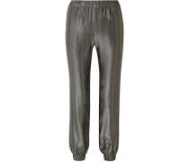 Colette Silk-blend Lamé Track Pants Gold