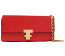 Woman Leather Clutch Red